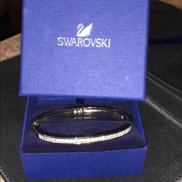 449dc4c597704 Swarovski Channel-set Gold Plated Bangle # 956714